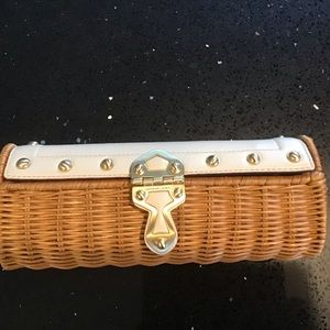 Michael Kors wicker clutch! Perfect for summer!